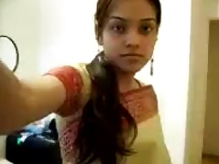 INDIAN - Cute Girl Sripping Saree exposing her boobies