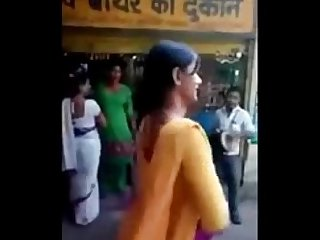 Indian naughty street girls doing naughty act on road