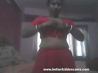 indian bhabhi mms stripping naked for a blowjob sex